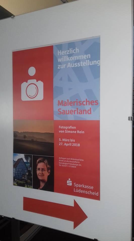 Plakat Sparkasse Lüdenscheid Bilderausstellung